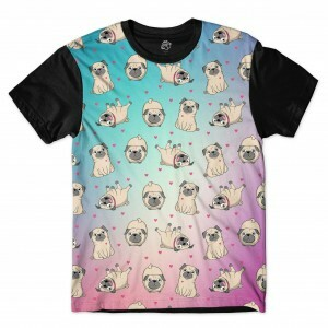 Camiseta BSC Multiple Pug Sublimada Preto