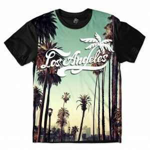 Camiseta BSC Los Angeles Cali Full Print Preto