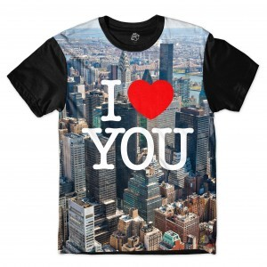 Camiseta BSC I lOVE NYC Sublimada Preto