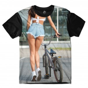 Camiseta BSC Girl BMX Sublimada Preto