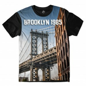 Camiseta BSC Brooklyn Bridge Full Print Preto