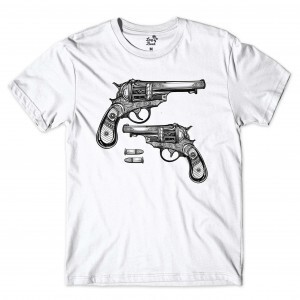 Camiseta Long Beach Gun Branco