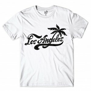 Camiseta Long Beach Los Angeles Branco