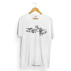 Camiseta Long Beach Hand Marijuana Branco