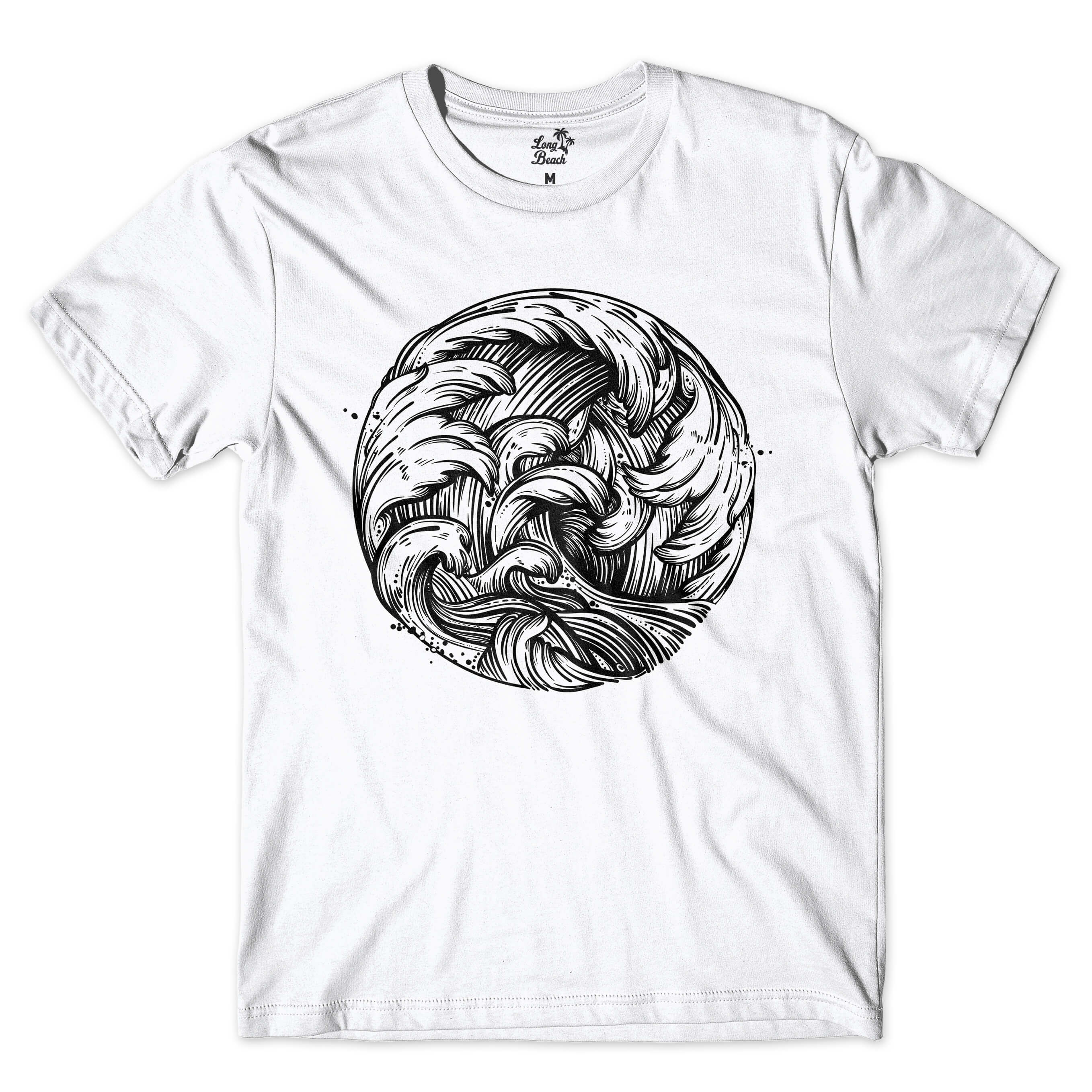 Camiseta BSC Wave Circle Branco