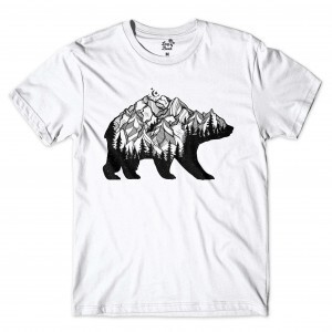 Camiseta Long Beach Mountain Bear Branco