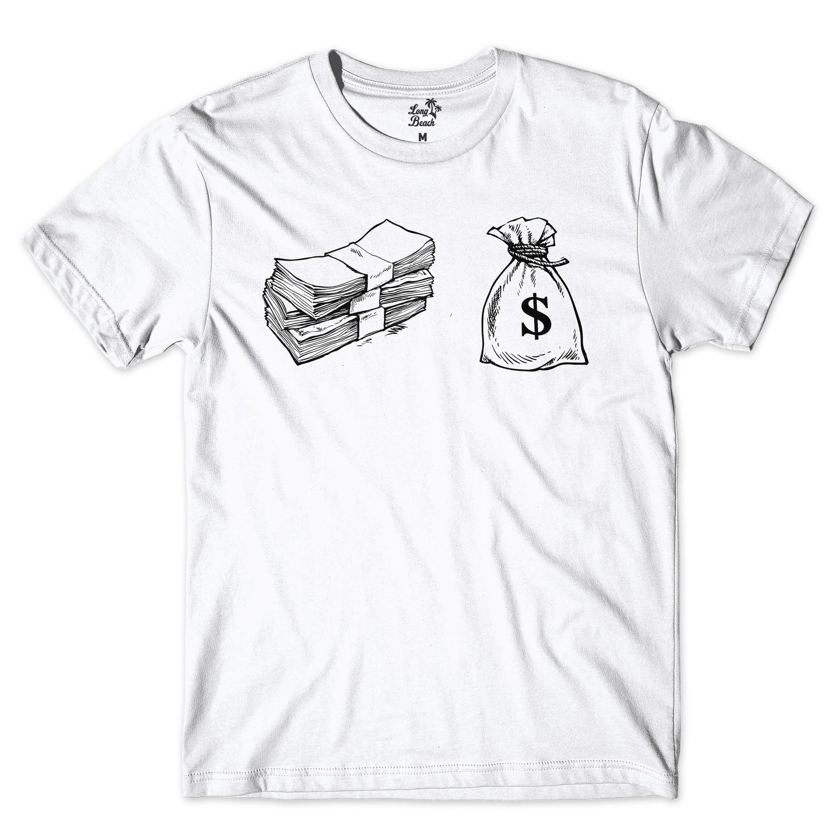 Camiseta Long Beach Cash Branco