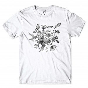 Camiseta Long Beach Flower Branco