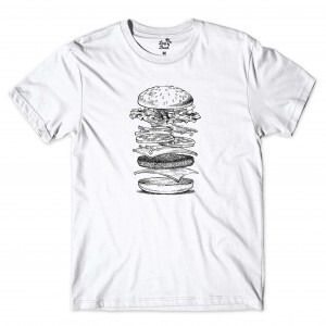Camiseta Long Beach Burger Open Branco