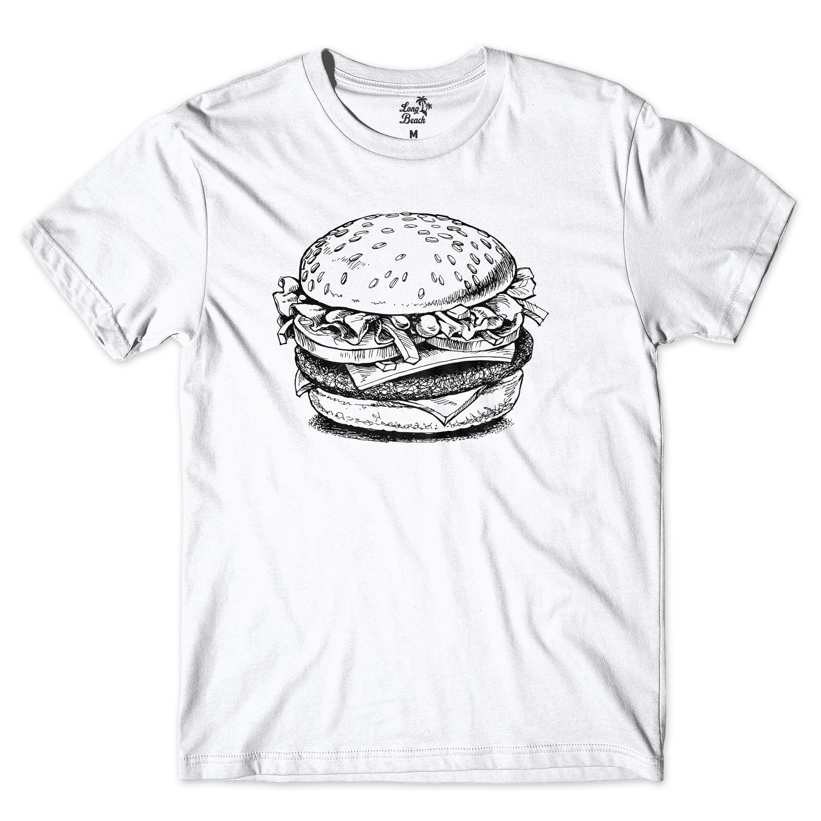 Camiseta BSC Burger Food Branco