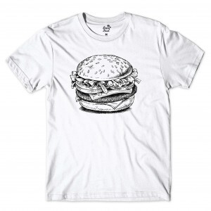 Camiseta Long Beach Burger Food Branco