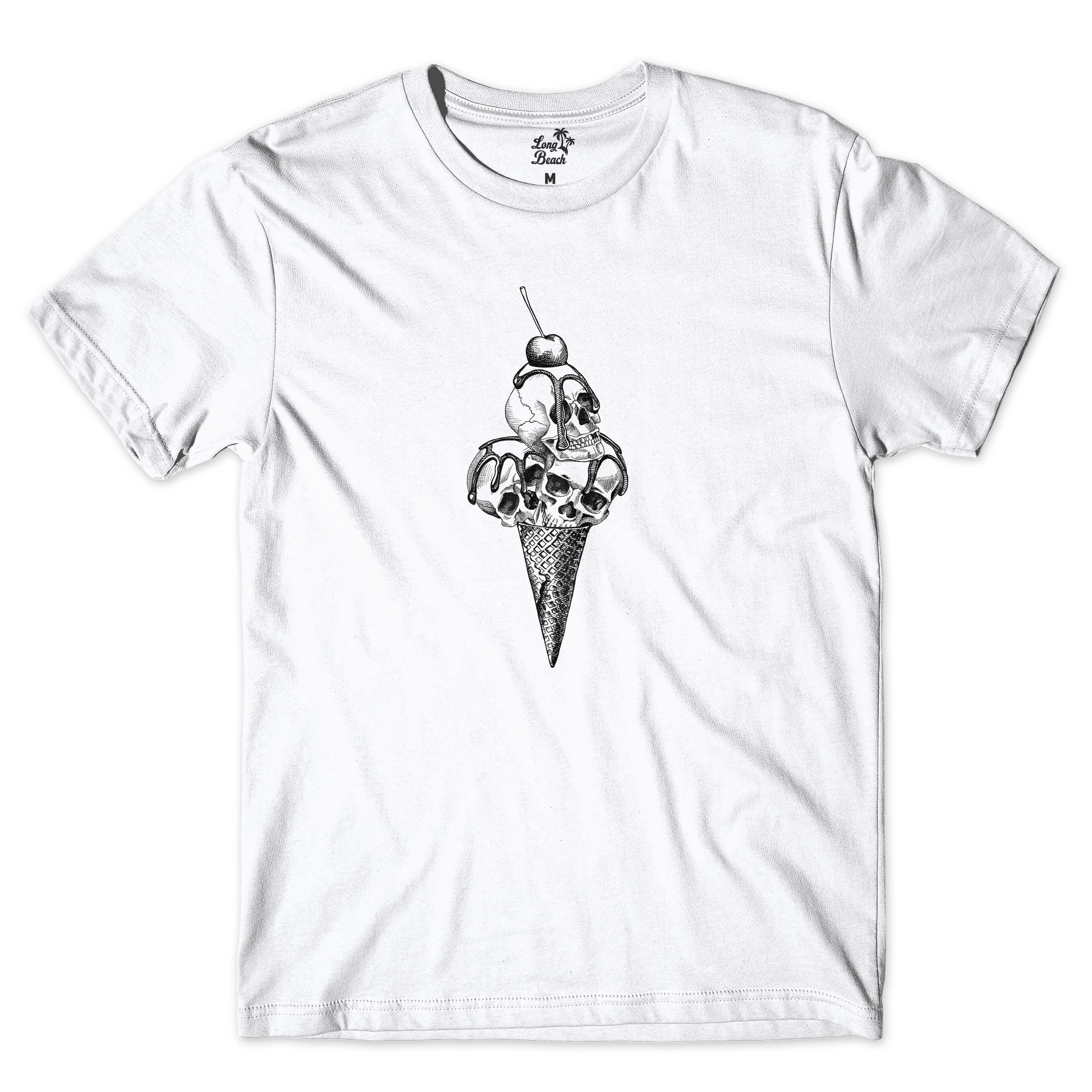 Camiseta Long Beach Ice Cream Skull Branco