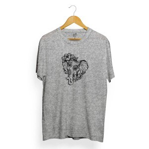 Camiseta Long Beach Elephant Cinza