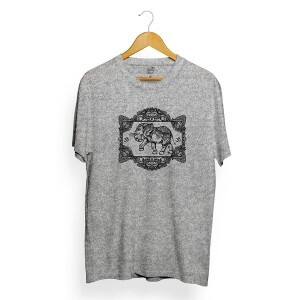 Camiseta Long Beach Elephant Frame Cinza