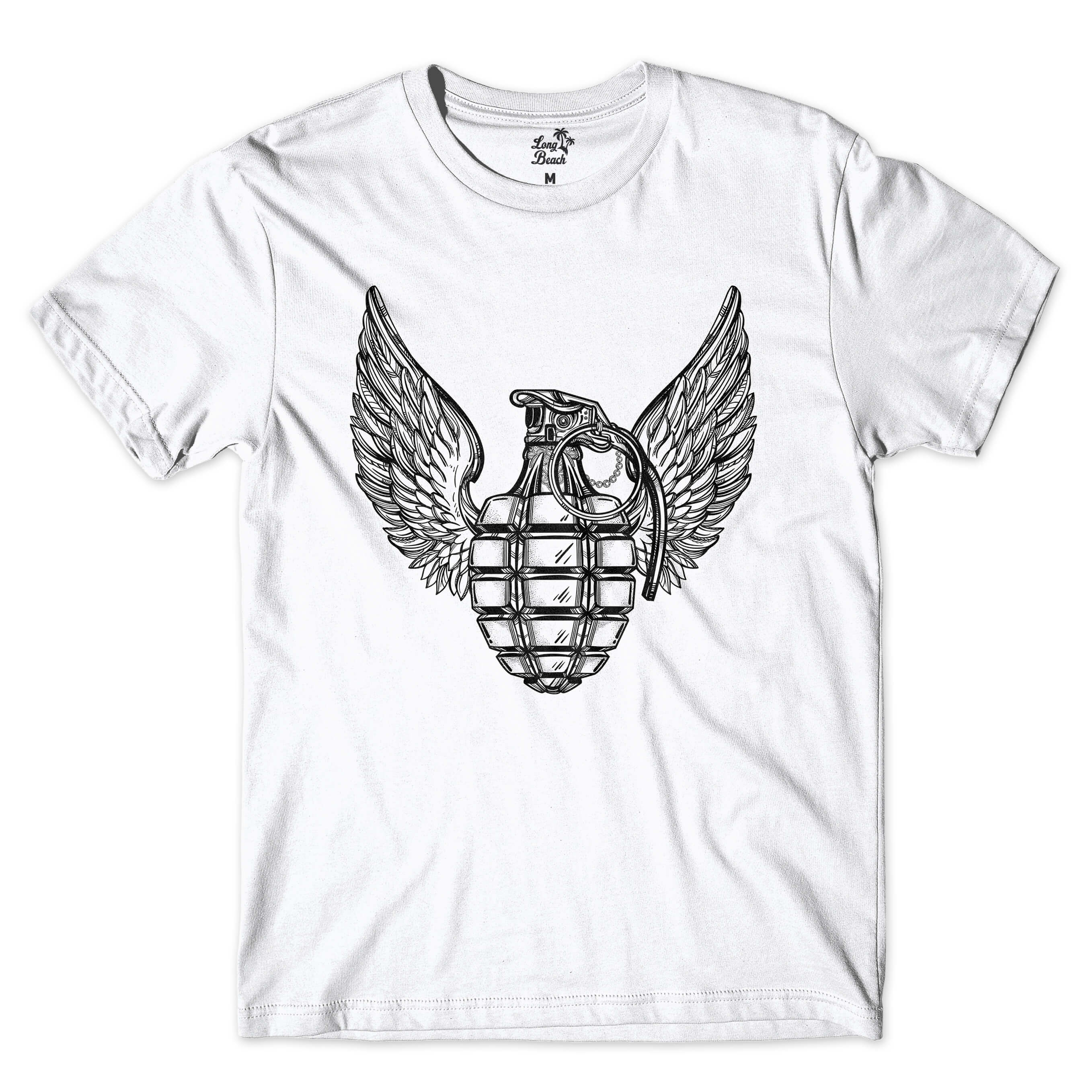 Camiseta BSC Grenade Wings Branco
