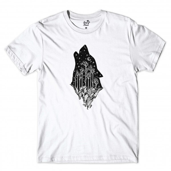 Camiseta Long Beach Mystc Wolf Branco