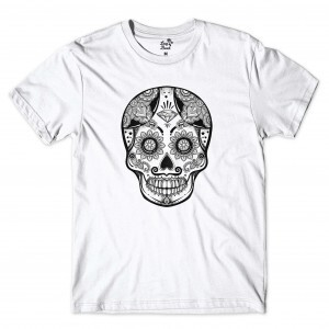 Camiseta Long Beach Skull Diamond Branco