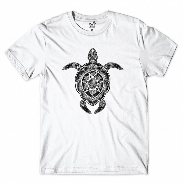 Camiseta Long Beach Turtle Branco