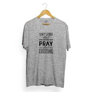 Camiseta Long Beach Pray About Cinza