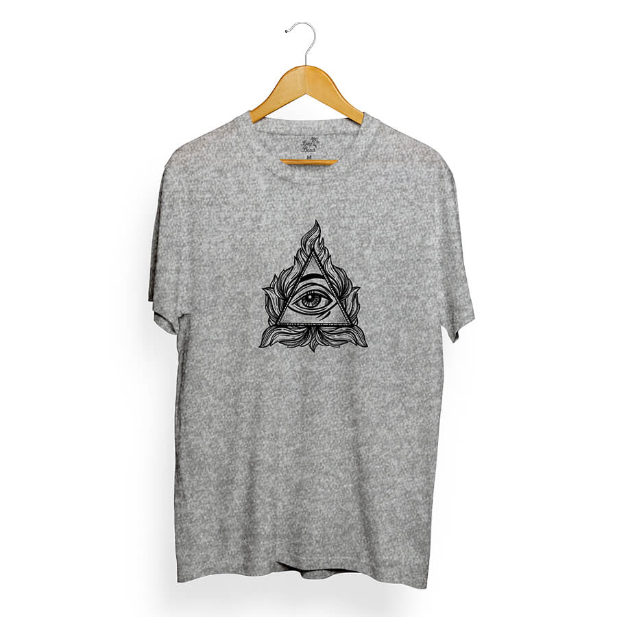 Camiseta Long Beach Eye Pyramid Cinza
