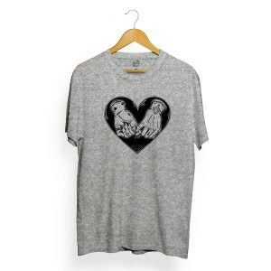 Camiseta Long Beach Heart in Hand Cinza