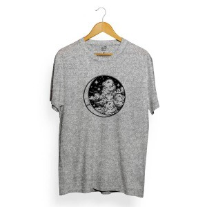 Camiseta BSC Moon and Cloud Cinza