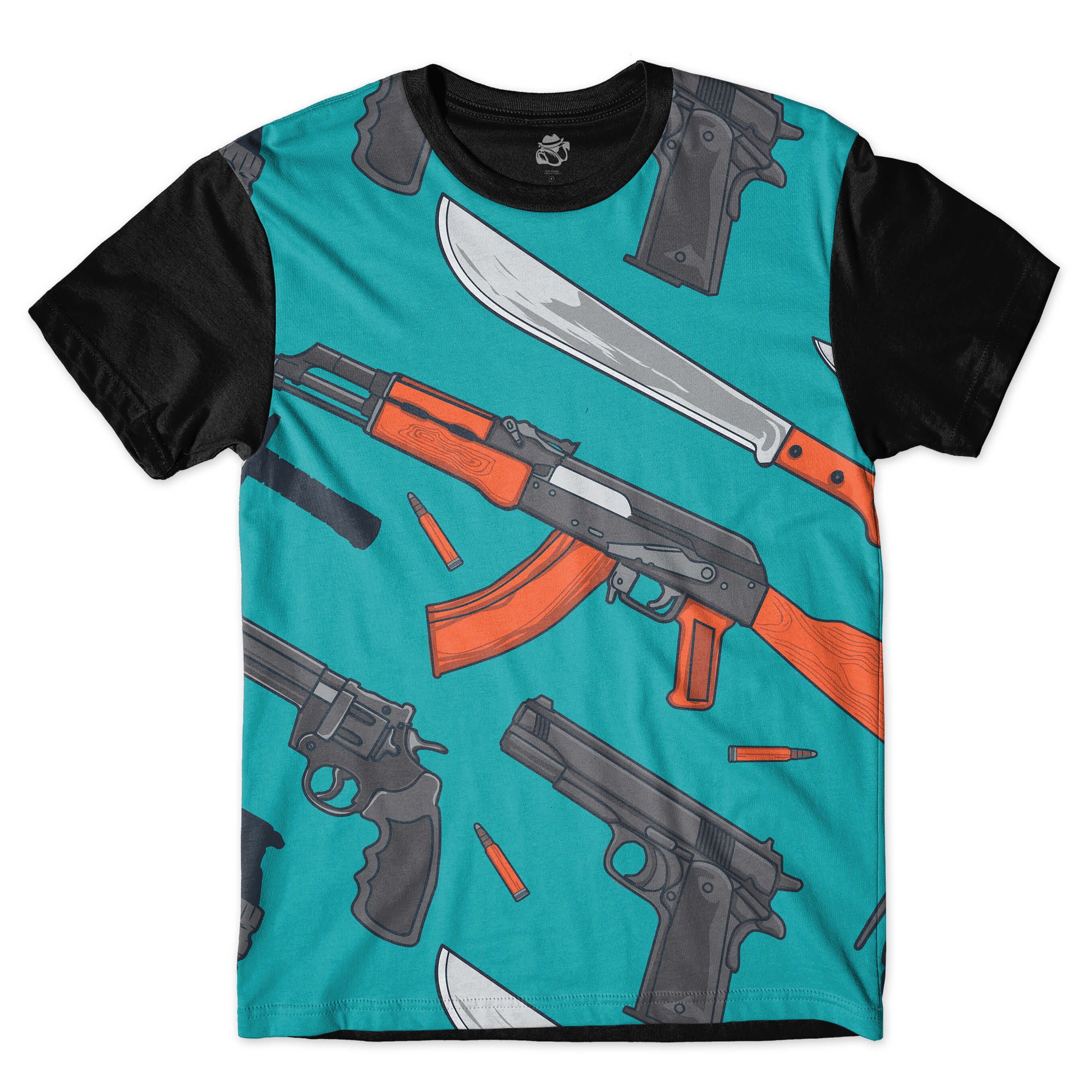 Camiseta BSC Weapon and Knife Full Print Preto