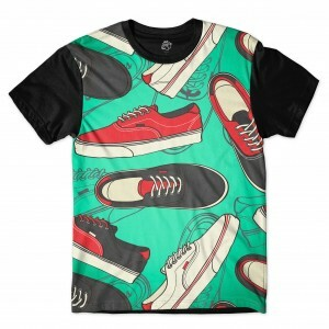 Camiseta BSC Cali Shoes Full Print Preto