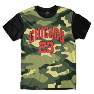Camiseta BSC Chicago Camo Full Print Preto