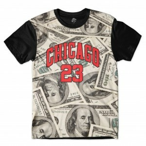 Camiseta BSC Chicago Dollar Full Print Preto