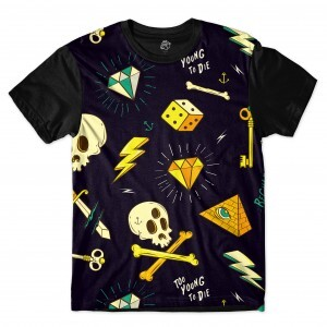 Camiseta BSC Too Young To Die Full Print Preto
