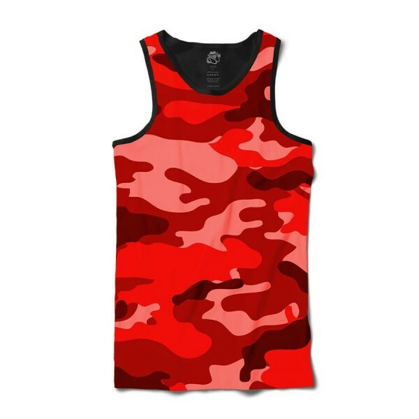Camiseta BSC Regata Camo Red Sublimada Preto