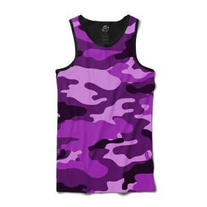 Camiseta BSC Regata Camo Purple Full Print Preto