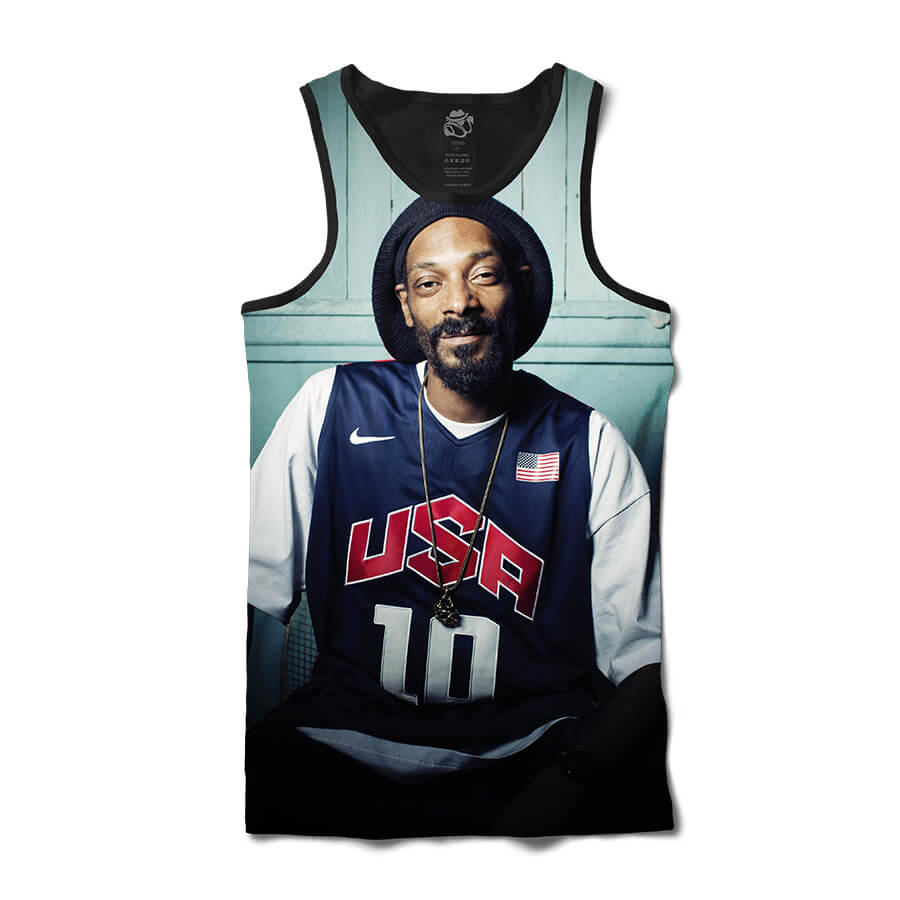 Camiseta BSC Regata Snoop USA Full Print Preto