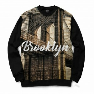 Blusa BSC Brooklyn Full Print Preto