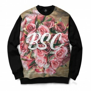 Blusa BSC Bouquet of Flowers Full Print Preto