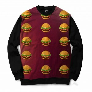Blusa BSC Hamburger Sublimada Preto