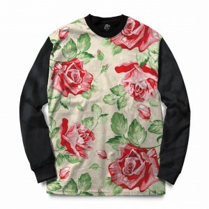 Blusa BSC Red Roses Sublimada Preto