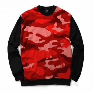 Blusa BSC Camo Red Sublimada Preto