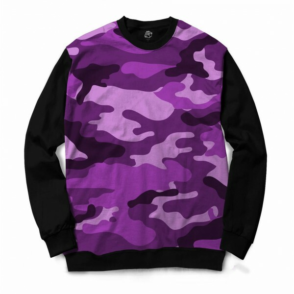 Blusa BSC Camo Purple Sublimada Preto