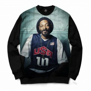 Blusa BSC Snoop USA Full Print Preto