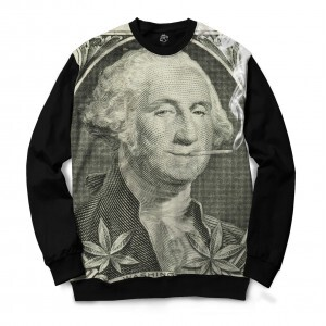 Blusa BSC George Washington Kush Full Print Preto