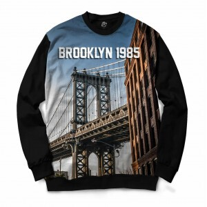 Blusa BSC Brooklyn Bridge Full Print Preto