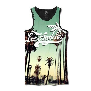 Camiseta BSC Regata Los Angeles Cali Full Print Preto