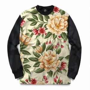 Blusa BSC Beautiful Flowers Sublimada Preto