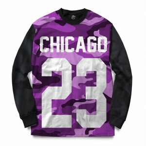 Blusa BSC Chicago 23 Purple Camo Full Print Preto