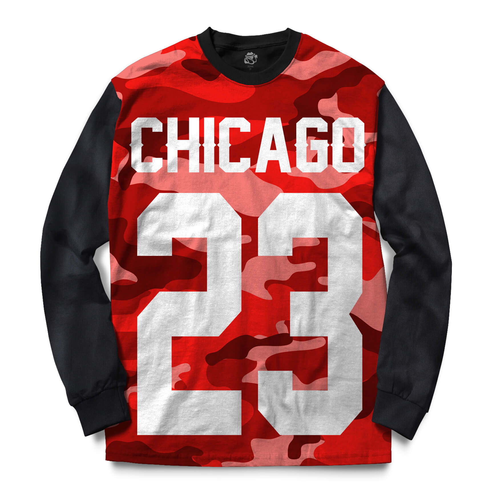 Blusa BSC Chicago 23 Red Camo Sublimada Preto