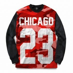 Blusa BSC Chicago 23 Red Camo Full Print Preto