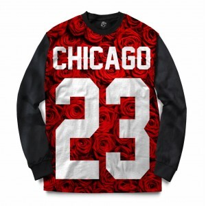 Blusa BSC Chicago 23 Red Rose Full Print Preto
