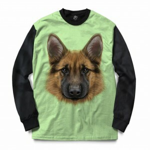 Blusa BSC German Shepherd Dog Full Print Preto